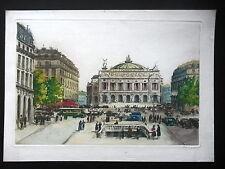 EAU-FORTE XXe - L'OPERA DE PARIS - SIGNEE