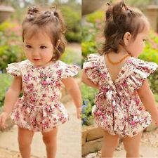 nouveau né bébé fille vêtements floral à volants barboteuse combinaison body