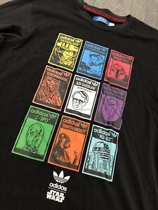 Vintage Rare Retro Adidas Originals x Star Wars Logo T-shirt Size L