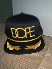 Limited Edition NEW DOPE URBAN Gold Captain SnapBack FLAT MENS SPORT