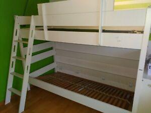 PAIDI Etagenbett Stockbett Kinder weiß 200 cm auf 90 cm