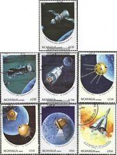 Nicaragua 2497-2503 (kompl.Ausg.) gestempelt 1984 Jahrestage der Weltraumfahrt