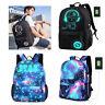 Luminous Galaxy Anti-theft Lock USB Charger Men Women Backpack School Travel Bag