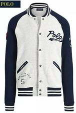 "Polo Ralph Lauren Eastern Varsity League ""R"" 1967 Bomber Raglan Jacket Medium M"