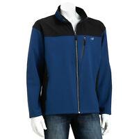 Men New Balance Ripstop Softshell Fleece Jacket Blue/Black Water/Wind Proof $80