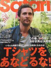 Safari Japanese Men's Fashion Magazine May 2016 Matthew Mcconaughey