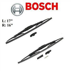 2PCS BOSCH FRONT L&R D-Connect Wiper Blade For HUMMER H3 2006-2010/H3T 2009-2010