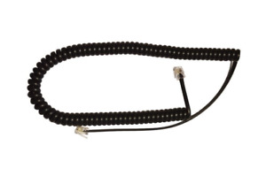 Genuine Mitel Phone black Curly cord 3m