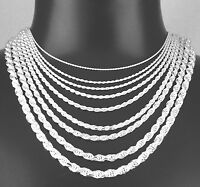 Wholesale Lot Solid Geniune 925 Sterling Silver Rope Chain DC Italy Made