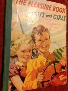 """Vintage Children's Book Annual - """"The Pleasure Book For Boys & Girls"""""""