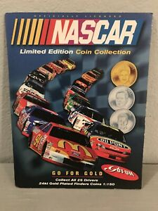 NASCAR 1997 Limited Edition 25 Nickle/Silver Finders Coin Collection Vintage