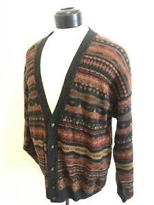 Lyle and Scott Harwick Scotland Men's Lg Cartigan Sweater Acrylic Alpaca Wool