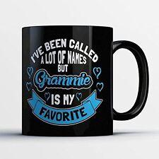 Grammie Coffee Mug - Grammie Is My Favorite - Funny 11 oz Black Ceramic Tea Cup