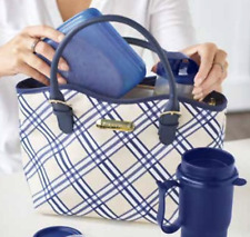 Tupperware Plaid Lunch Set Insulated Bag GREAT quality You will Love this! :)