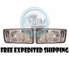 Clear Fog Lights Pair Set Fits 2008 - 14 Chevy Silverado 1500/2500/2500HD/3500HD