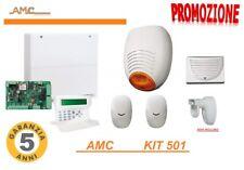 ANTIFURTO ALLARME AMC KIT CON CENTRALE FILARE C24 GSM SCHEDA 8 ZONE SENSORI