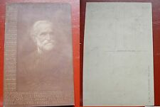 CARTOLINA ILLUSTRATA GIUSEPPE VERDI - MUSICA- GLORIA ALL'IMMORTALE RE.....1900
