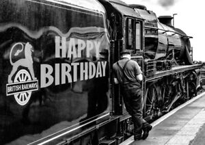 PERSONALISED BIRTHDAY CARD-FATHER DAD SON 'TRAINSPOTTER' RAILWAY STEAM TRAIN