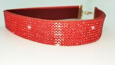 Bling rhinestone soft suede crystal collarsfor dogs/cats adjustable