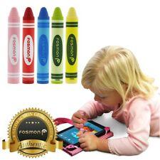 Pacote com 5 Crianças Juvenil Universal Capacitiva Stylus Pen Giz De Cera Para Smartphones Tablets