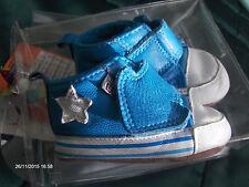Baby Schuhe MELTON Echt Leder Original Verpackung Etikett Gr16 Boy Star Blau Top