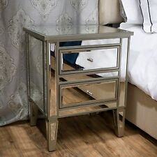 Crawford Vintage Mirror Two-Drawer End Table by Christopher Knight Home