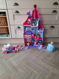 Fisher Price Little People Disney Princess Magical Wand Palace Toy Bundle