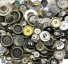 50 Assorted Buttons Resin Metal Mixed Colors Steampunk Craft Supply Bulk Lot Set