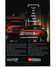 1994 GMC SIERRA Red Pickup Truck with Dump Truck Vtg Print Ad