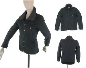 Men's VIVIENNE WESTWOOD Man London High Neck Navy Quilted Coat Jacket SIze XS-S