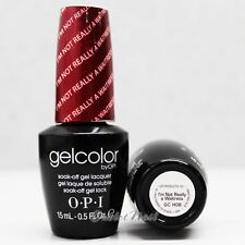 OPI GelColor GC H08 I'M NOT REALLY A WAITRESS 15mL UV LED Gel Polish Chianti Red