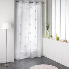 Douceur D'intérieur 1624135 Paire Pompon de Voilage brode Polyester