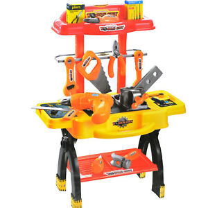 45PC TOY WORKBENCH KIDS CHILDRENS TOOL KIT BENCH DIY STATION ELECTRIC DRILL PLAY