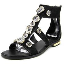 Sandalias con tiras de mujer de color principal negro talla 37.5