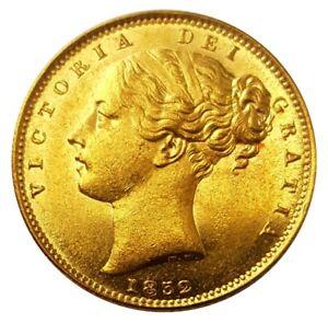 1852 Queen Victoria Shield Reverse Sovereign - STUNNING AUNC
