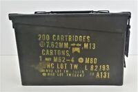SCF Military Ammo Metal Box M.G. M60-M73 200 Cartridge Storage Can Empty