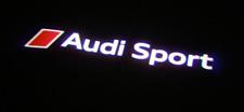 Genuine Audi Sport Logo Puddle Entry LED Lights R8 TT RS S Projector Beam