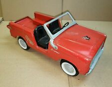 Vintage 1966-1970 Pressed Steel Nylint Red Ford Bronco Fire Chief Car