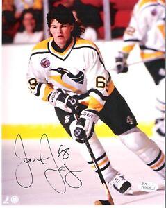 Jaromir Jagr Pittsburgh Penguins White Jersey Autograph 8x10 Photo JSA Verified