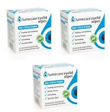 3x Lumecare Cleansing Eyelid Wipes Refreshing Cooling & Soothing 20 Wipes