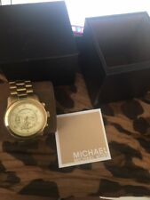 Michael Kors Runway Chronograph MK8077 Wrist Gold Toned Watch for Men