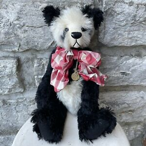 OOAK Artist Bear Kimberly Fischer Kimberly's Buried Treasure Bearied VTG Panda