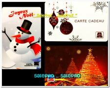 3x PJC HBC CHRISTMAS GOLD TREE SNOWMAN ORNAMENT BALL COLLECTIBLE GIFT CARD LOT