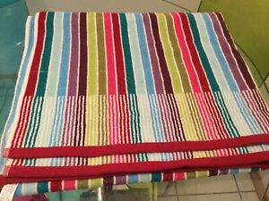 Next Towel Bath Sheet Striped In Excellent Condition