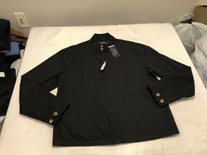 NWT $149.99 Polo Ralph Lauren Mens Classic Canvas Bomber Jacket Black Sz XL