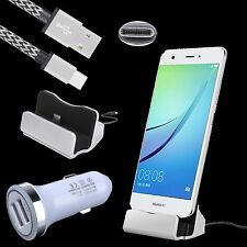 Car Adapter + Type C Charger Dock + Cable for Huawei P9 P10 Plus Mate 9 Pro Nova