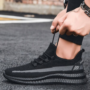 Men's Athletic Sneakers Gym Jogging Sports Breathable Mesh Walking Casual Shoes