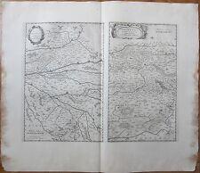 Blaeu: Large Map France Orleans Blois Bourges Longwy Mortaigne - 1650