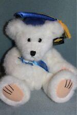 "Wishpets 12"" Graduation White Teddy Bear Grad NEW 2007"
