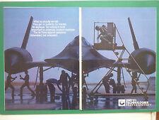 5/84 PUB UNITED TECHNOLOGIES PRATT & WHITNEY ENGINES LOCKHEED SR-71 BLACKBIRD AD